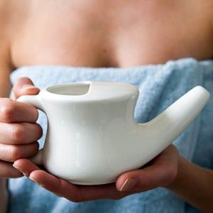 Neti Pot with Saline Solution