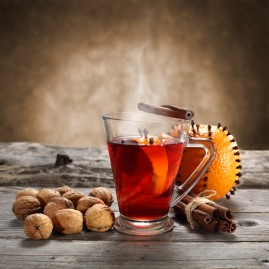Walnuts-and-hot-drink